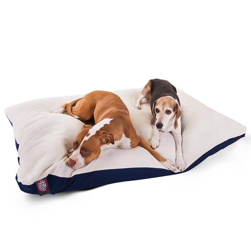 Majestic Pet Products 42x60 Blue Rectangle Dog Bed-Extra Large