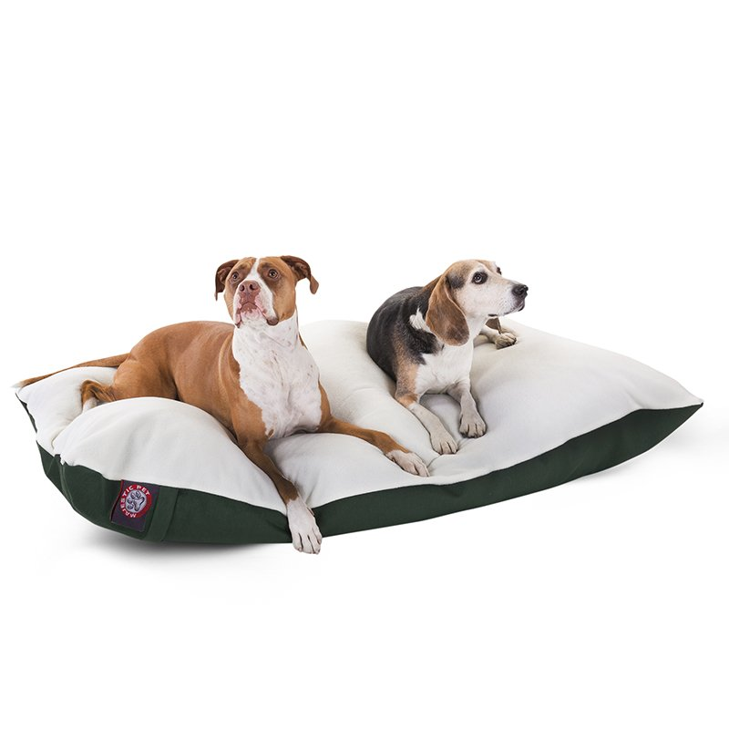 Majestic Pet Products 42x60 Green Rectangle Dog Bed-Extra Large