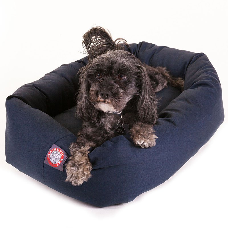 Majestic Pet Products 24-inch Blue Bagel Bed
