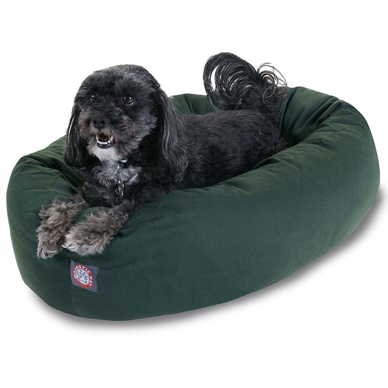 Majestic Pet Products 24-inch Green Bagel Bed