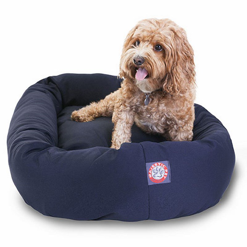 Majestic Pet Products 32-inch Blue Bagel Dog Bed