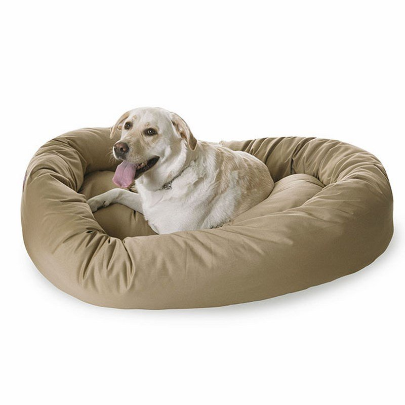 Majestic Pet Products 40-inch Khaki Bagel Bed