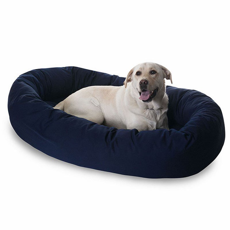 Majestic Pet Products 40-inch Blue Bagel Bed