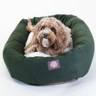 Majestic Pet Products 32-inch Green & Sherpa Bagel Dog Bed
