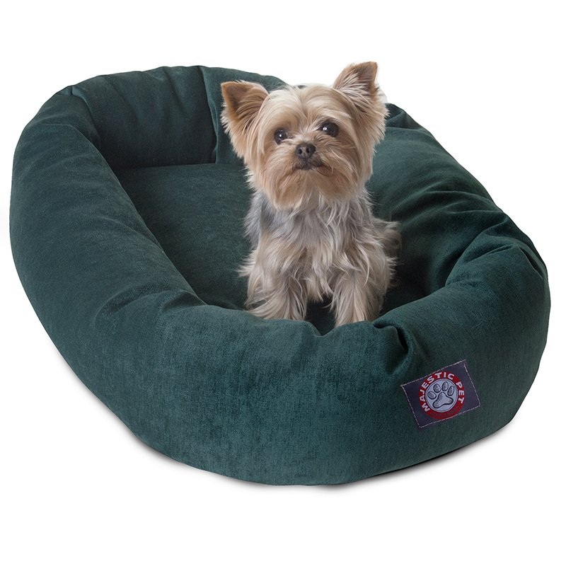 Majestic Pet Products 24-inch Marine Villa Collection Micro-Velvet Bagel Bed
