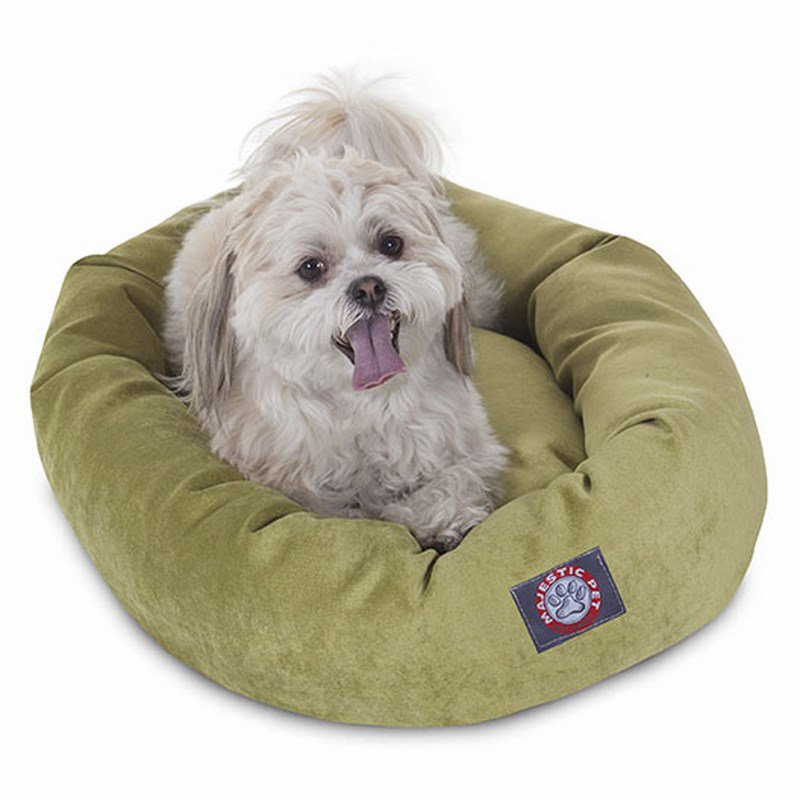 Majestic Pet Products 24-inch Apple Villa Collection Micro-Velvet Bagel Bed