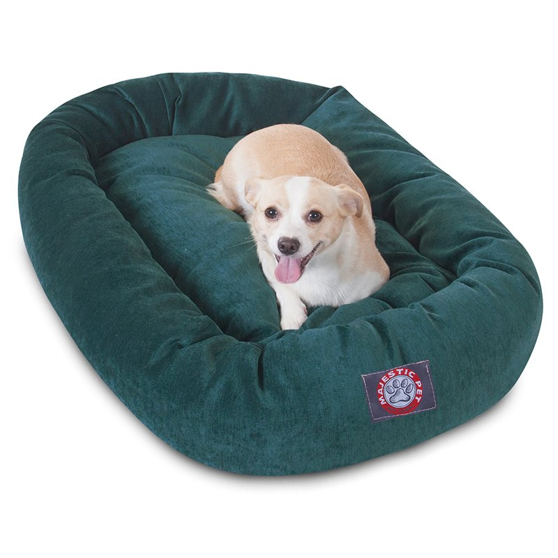Majestic Pet Products 32-inch Marine Villa Collection Micro-Velvet Bagel Bed