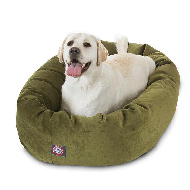 Majestic Pet Products 40-inch Fern Villa Collection Micro-Velvet Bagel Bed