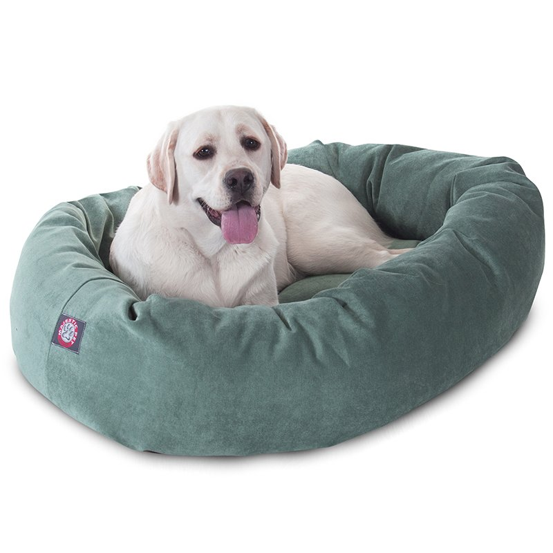 Majestic Pet Products 40-inch Azure Villa Collection Micro-Velvet Bagel Bed