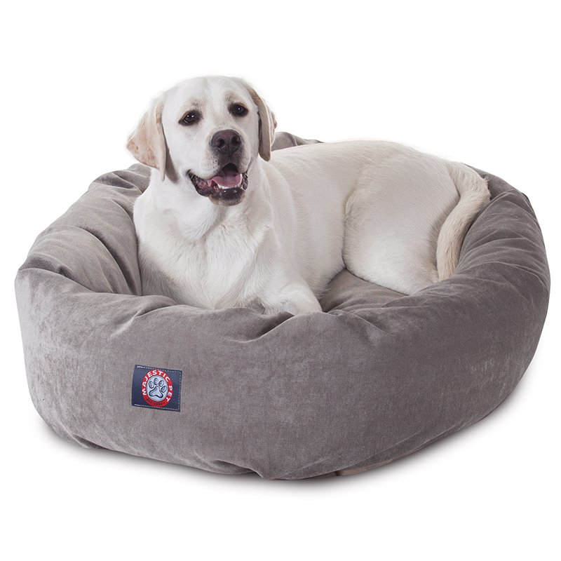 Majestic Pet Products 40-inch Vintage Villa Collection Micro-Velvet Bagel Bed