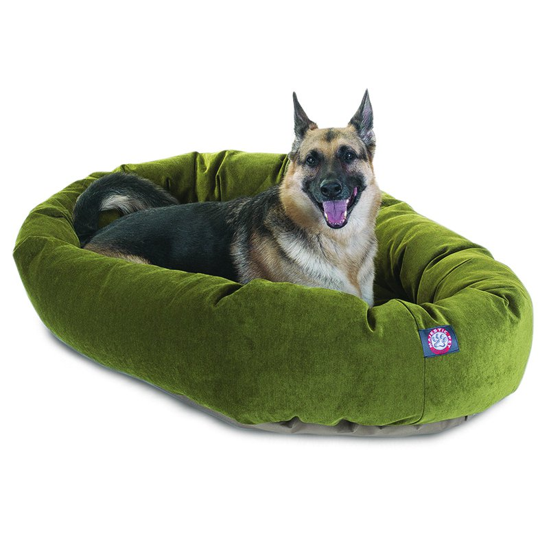 Majestic Pet Products 52-inch Fern Villa Collection Micro-Velvet Bagel Bed