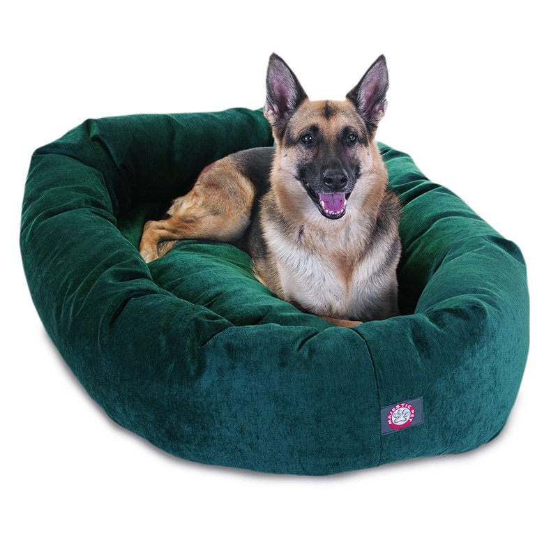 Majestic Pet Products 52-inch Marine Villa Collection Micro-Velvet Bagel Bed