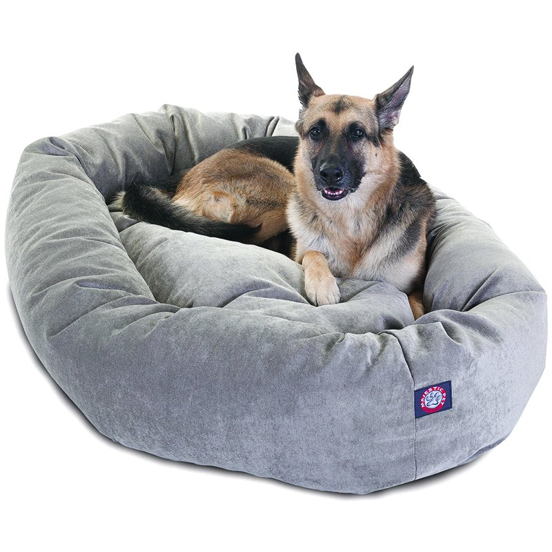 Majestic Pet Products 52-inch Vintage Villa Collection Micro-Velvet Bagel Bed