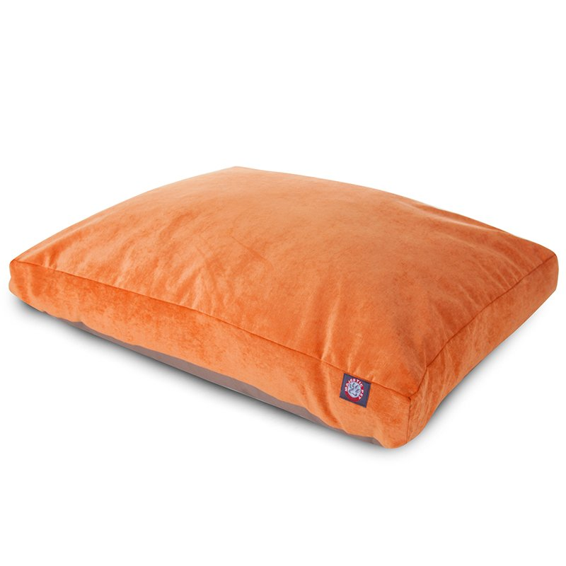 Majestic Pet Products Orange Villa Collection Large Rectangle Dog Bed