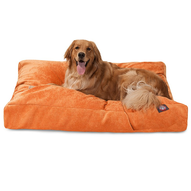 Majestic Pet Products Orange Villa Collection Extra Large Rectangle Dog Bed