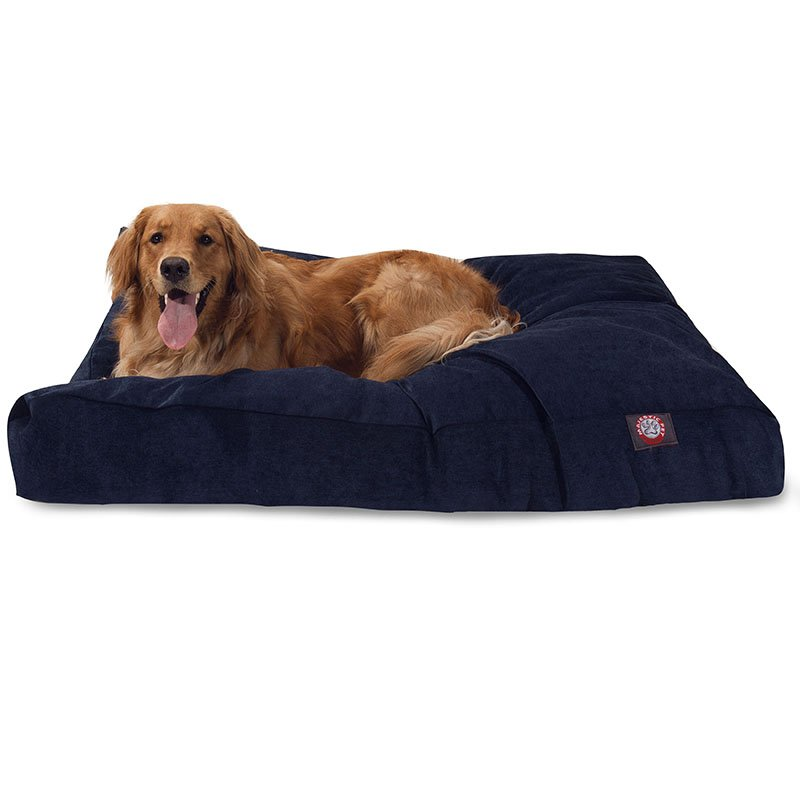 Majestic Pet Products Navy Villa Collection Extra Large Rectangle Dog Bed