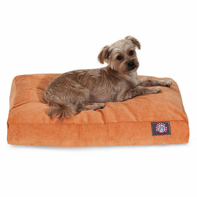 Majestic Pet Products Orange Villa Collection Small Rectangle Dog Bed