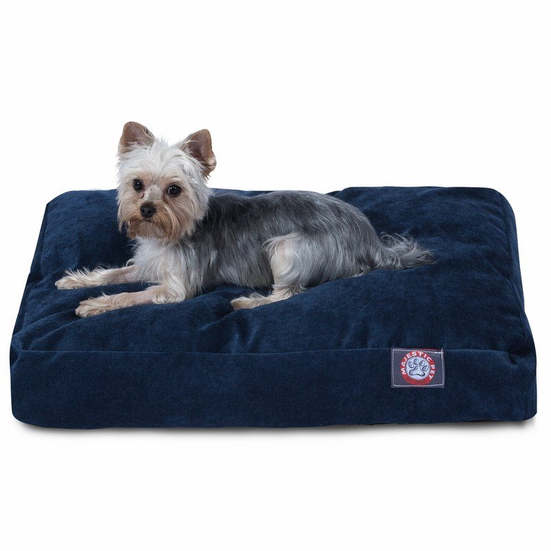 Majestic Pet Products Navy Villa Collection Small Rectangle Dog Bed