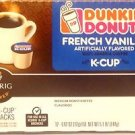 2 Box Dunkin Donuts French Vanilla Flavored Coffee 24 K-Cup