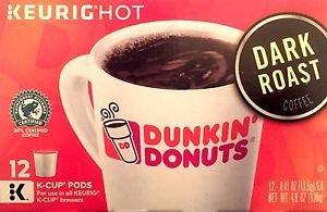 2X Dunkin Donuts Dark Roast Coffee k-cup 24 Pods