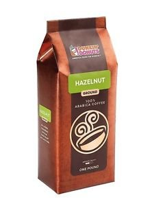 Dunkin Donuts Hazelnut Ground Coffee Bean 2lb