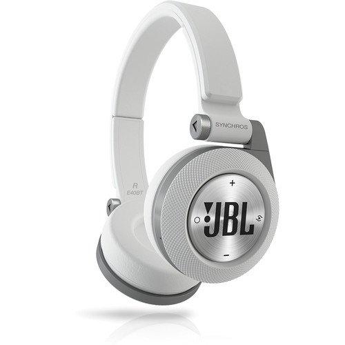 JBL White Synchros E40BT Bluetooth On-Ear Headphones