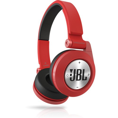 JBL Red Synchros E40BT Bluetooth On-Ear Headphones