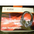 D:VICE Device Audio Gear Max DJ Headphones for All Electronic Gadgets 3.5mm