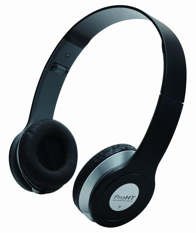 Inland 87012 Hi-Fi Stereo Headset with Microphone - Black