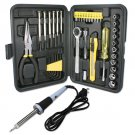 QVS 41 Piece Technician Premium Kit Tool Box with Soldering Iron