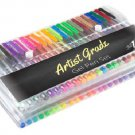 Color Gel Pen Set 100 Count for Adult Coloring Scrapbooking Doodling Comic Animation by Artist Grade