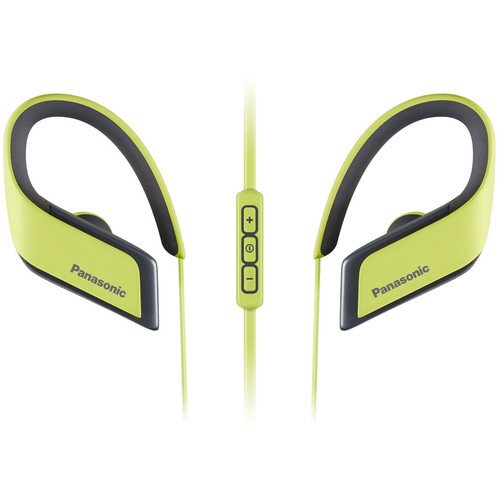 Panasonic  RP-BTS30PP-Y WINGS Wireless Bluetooth Sport Clips with Mic & Controller (Yellow)
