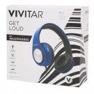 Vivitar Get Loud DJ Wired Headphones - BLUE - V50024-BLU-WM