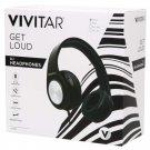 Vivitar Get Loud DJ Wired Headphones - Black - V50024-BLK-WM