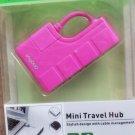 VogDUO Mini Travel USB Hub - 4 Ports - Pink