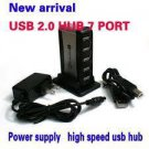 7 PORT HIGH SPEED USB HUB WITH AC POWER ADAPTER