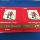 "Canon PP-301 Photo Paper Plus Glossy II (8.5 x 11"", 20 Sheets) x 2 Packs"