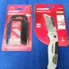 HUSKY Pro Folding Utility Knife + 100 Pack Heavy-Duty Utility Blades