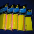 Sticker Sticky Post-It Notes - 3in x 3in - 5 Packs - 20 Pads - 1000 Sheets