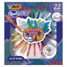 BIC Gel-ocity Original Retractable Gel Pen Spinner, Assorted Colors, 22 Count