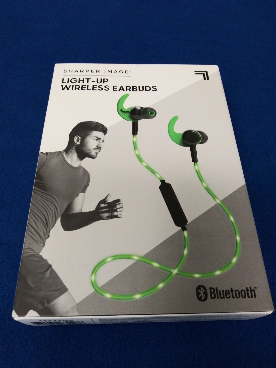 Sharper Image Light-Up LED Bluetooth Earbuds - Green