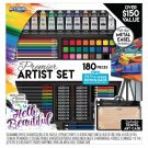 ArtSkills Premier Artist Set with Collapsible Easel, 180 Pieces