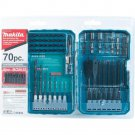 Makita Impact Drill-Driver Bit Set (70-Piece), Steel