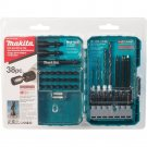Makita Steel Contractor-Grade Bit Set (38-Piece)