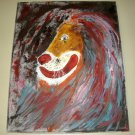 CLOWN LION/ACRYLIC/ORIGINAL/NEW