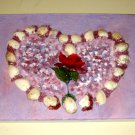 SEA SHELL HEART/with REAL SEASHELLS/ORIGINAL/