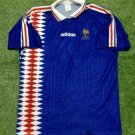 Mens Adidas France Home 1994 Size L Football Camisa Trikot Maillot Maglia