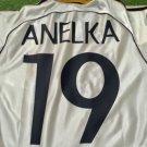 Mens Adidas Real Madrid Home 1998 Size M #19 ANELKA Camisa Trikot Football