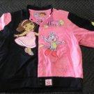Dora The Explorer Smile JH Design L 9-10 Jacket kids coat girls denim