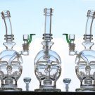 "10"" TALL SKULL GLASS WATER PIPES"